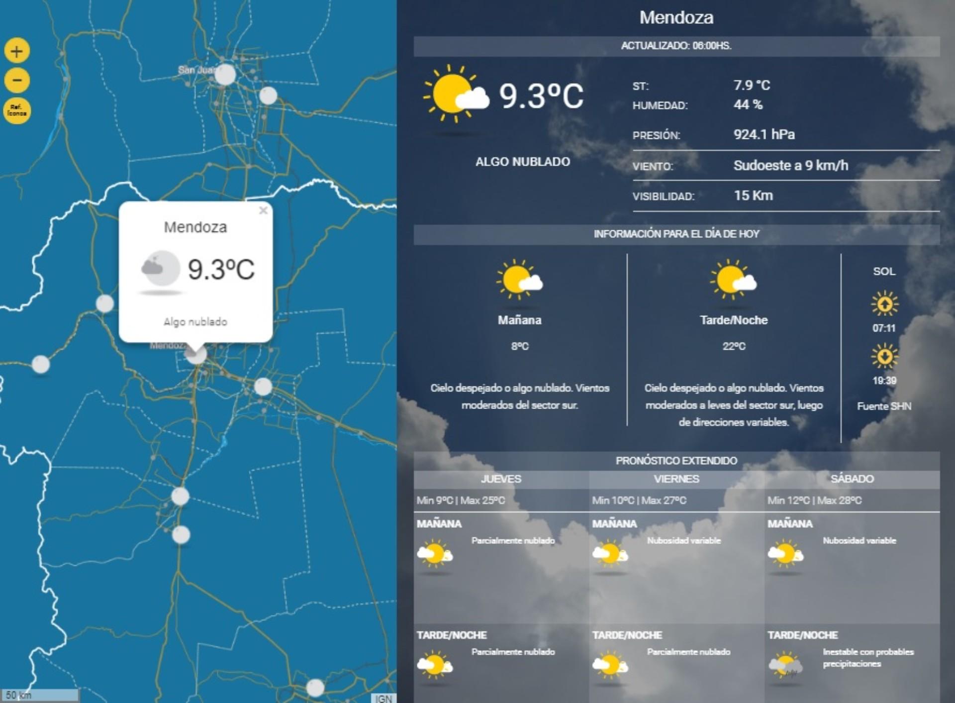 Santiago: Se anuncia un jueves nublado con máxima de 25º