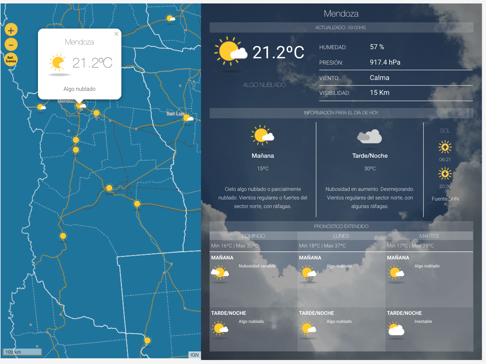 Tiempo Libre: Cómo estará el tiempo este jueves en Tucumán